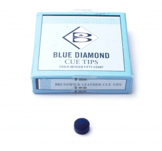 Cue Tip Brunswick - Blue Diamond - Medium, 9 mm, 1 piece