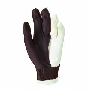 Billiard Cue Glove Laperti - 3-finger, black, with Velcro, L