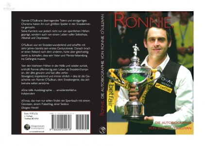 Ronnie O'Sullivan - Ronnie - The Autobiography, bound book, english