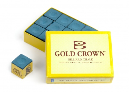 Billard Kreide Brunswick - Gold Crown - 12er-Pack, blau