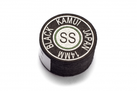 Cue Tip Kamui Multilayer - Black - SS - 14 mm, 1 piece