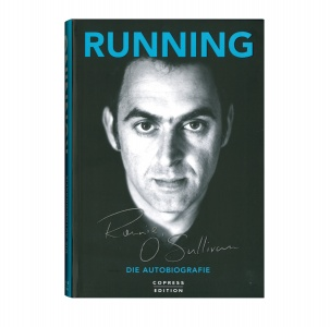 Ronnie O'Sullivan - Running - The Autobiography, bound book, German